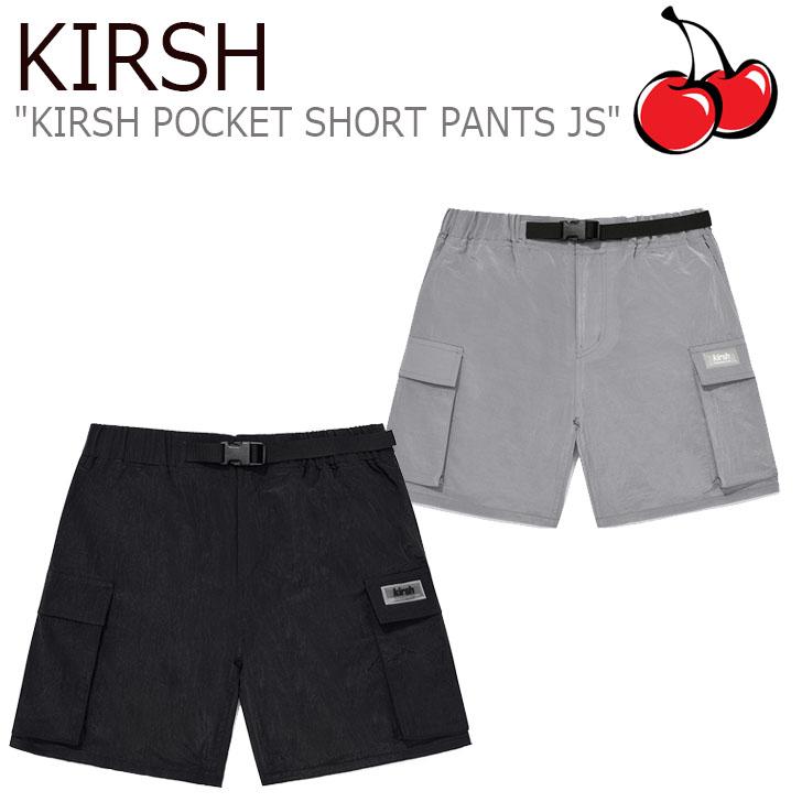 キルシー パンツ KIRSH レディース KIRSH POCKET SHORT PANTS JS キルシー ポケット ショートパンツ LIGHT GRAY ライトグレー BLACK ブラック JSKB05 ウェア