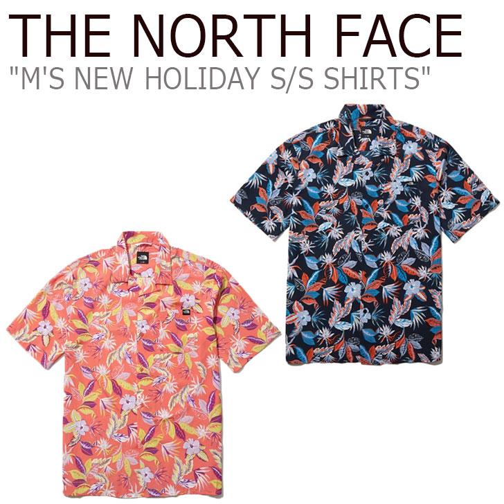 ノースフェイス 半袖シャツ THE NORTH FACE メンズ M'S NEW HOLIDAY S/S SHIRTS ニュー ホリデー ショートスリーブ シャツ NAVY ネイビー CORAL コーラル NH8SL02A/B ウェア 【中古】未使用品