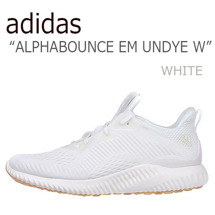 アディダス スニーカー adidas レディース ALPHABOUNCE EM UNDYE W アルファバウンス EM アンダイ W WHITE ホワイト BW1226 シューズ 【中古】未使用品