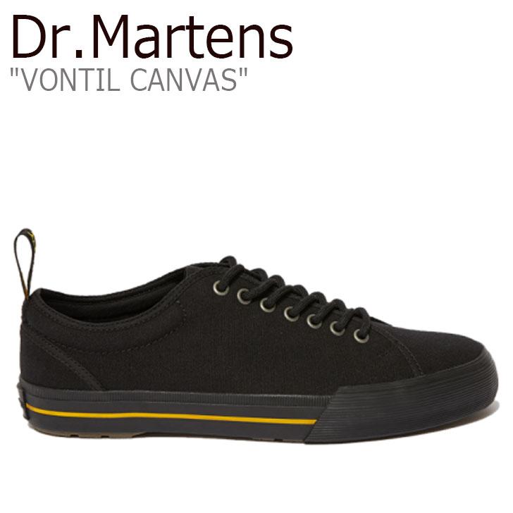 ドクターマーチン スニーカー Dr.Martens メンズ VONTIL CANVAS キャンバス BLACK ブラック 24971001 シューズ【中古】未使用品
