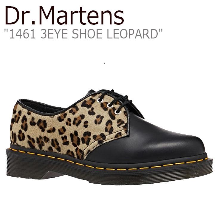 ドクターマーチン スニーカー Dr.Martens レディース 1461 3EYE SHOE LEOPARD 1461 3ホール シュー レオパード BLACK ブラック 25150001 シューズ【中古】未使用品