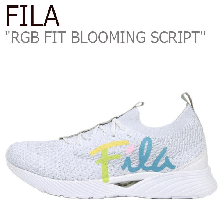 フィラ スニーカー FILA メンズ レディース RGB FIT BLOOMING SCRIPT RGB フィット ブルーミング スクリプト WHITE ホワイト BULE ブルー 1RM01254-138 シューズ