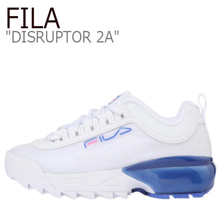 フィラ ディスラプター スニーカー FILA レディース DISRUPTOR 2A ディスラプター 2A WHITE ホワイト BLUE ブルー 5XM00803-149 シューズ