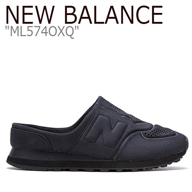 ニューバランス 574 スニーカー New Balance メンズ レディース ML 574 OXQ new balance 574 BLACK ブラック ML574OXQ シューズ 【中古】未使用品