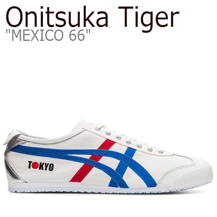 オニツカタイガー メキシコ66 スニーカー Onitsuka Tiger メンズ レディース MEXICO 66 メキシコ 66 WHITE ホワイト DIRECTOIRE BLUE ディレクトワー ブルー 1183A730-100 シューズ