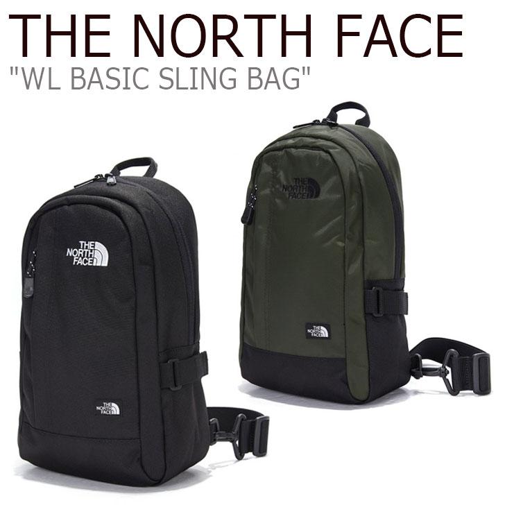 ノースフェイス ボディバッグ THE NORTH FACE メンズ レディース WL BASIC SLING BAG ベーシック スリングバッグ BLACK ブラック KHAKI カーキ NN2PL53J/K バッグ 【中古】未使用品