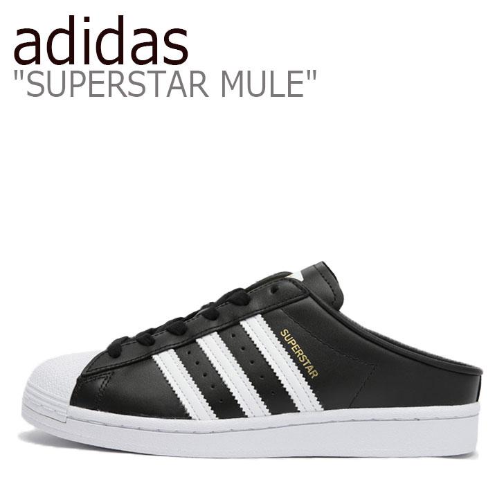 アディダス スニーカー adidas メンズ レディース SUPERSTAR MULE スーパースター ミュール BLACK ブラック WHITE ホワイト FX0528 シューズ 【中古】未使用品