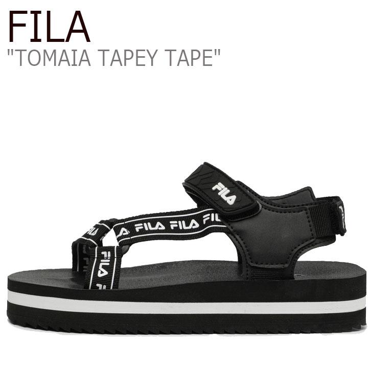 フィラ サンダル FILA メンズ レディース TOMAIA TAPEY TAPE トマイア テイピー テープ BLACK ブラック 1SM00738-001 シューズ