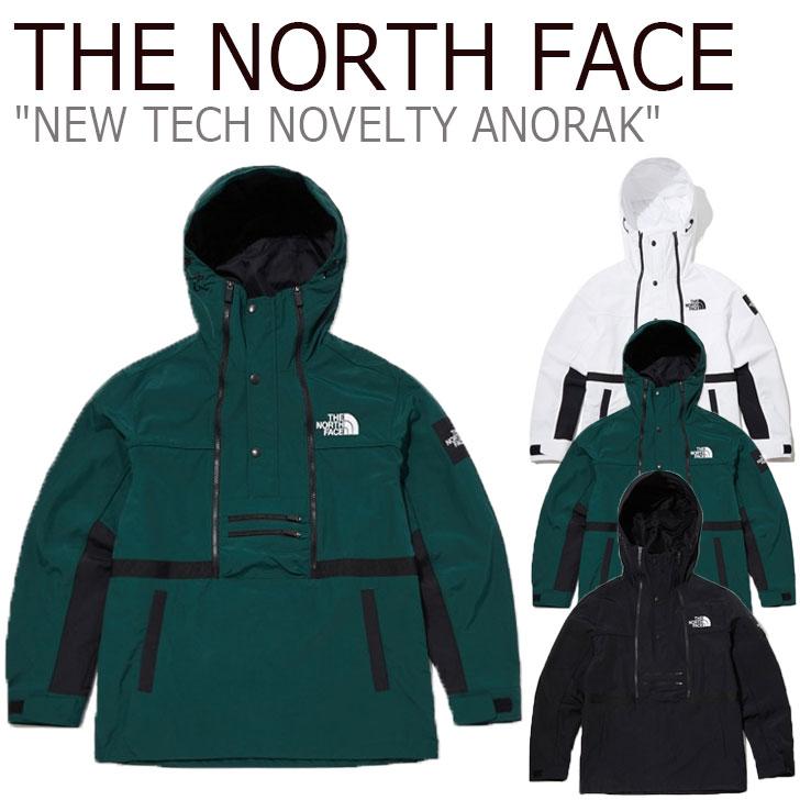 ノースフェイス ジャケット THE NORTH FACE メンズ レディース NEW TECH NOVELTY ANORAK ニュー テック ノベルティー アノラック WHITE ホワイト BLACK ブラック GREEN グリーン NA4HL52J/K/L ウェア 【中古】未使用品