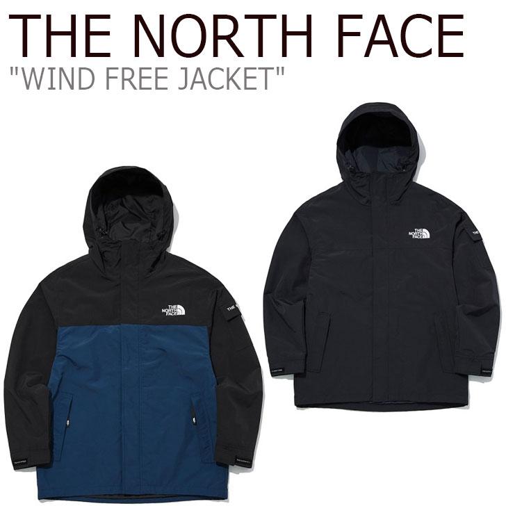 ノースフェイス ジャケット THE NORTH FACE メンズ レディース WIND FREE JACKET ウインド フリージャケット BLUE ブルー BLACK ブラック NJ3BL53A/B ウェア 【中古】未使用品