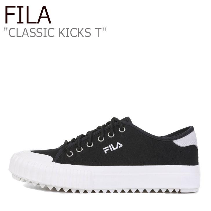 フィラ スニーカー Fila クラシック キックス おしゃれ classic kicks 即納送料無料 ブラック 海外直輸入USED品 FILA KICKS T BLACK レディース CLASSIC 未使用品 メンズ 中古 1XM01010-022 シューズ