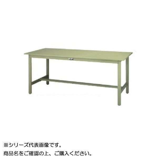 SWS-1875-GG+S1-G ワークテーブル 300シリーズ 固定(H740mm)(1段(浅型W394mm)キャビネット付き)【送料無料】