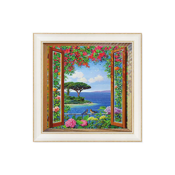 ウォール 美術品 壁掛けユーパワー アートフレーム アンドレア デル ミッシャー「コスタ スッラ メディタラニア」 AD-12503【送料無料】