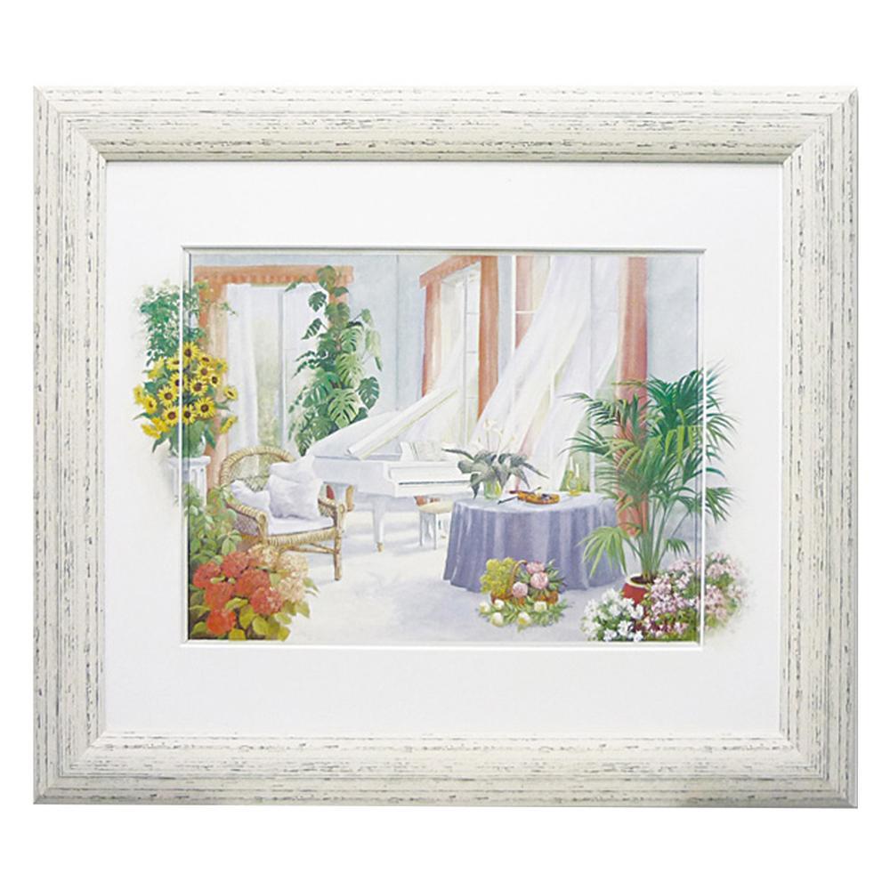 絵 額 風景画ユーパワー ピーター モッツ「ホワイト ピアノ」 PM-15048【送料無料】
