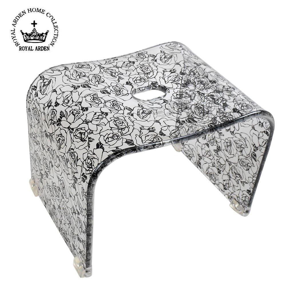 アクリルチェア 椅子 お風呂ロイヤルアーデン アクリル バスチェア ブラックローズ 58596【送料無料】