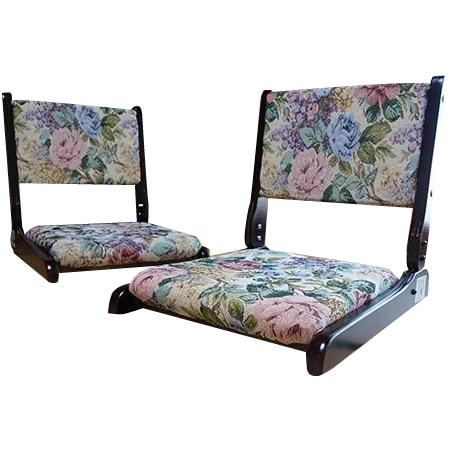 イス 座イス 折り畳み折畳回転座椅子 2台組 TAN-802(2ダイクミ)【送料無料】