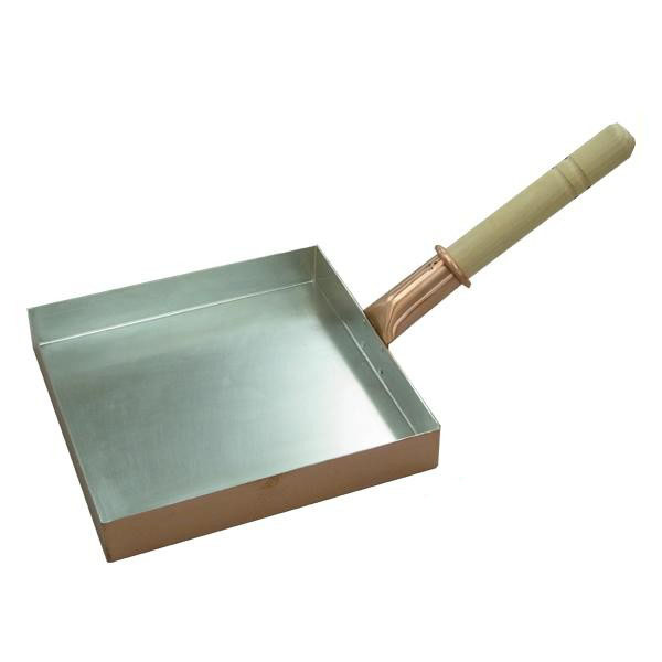 職人 プロ 大中村銅器製作所 銅製 卵焼き鍋 角型 24cm【送料無料】