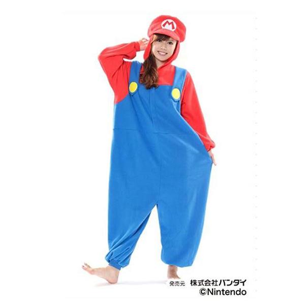 サザック フリース着ぐるみ スーパーマリオ マリオ BAN-056 フリーサイズ(大人用)【送料無料】