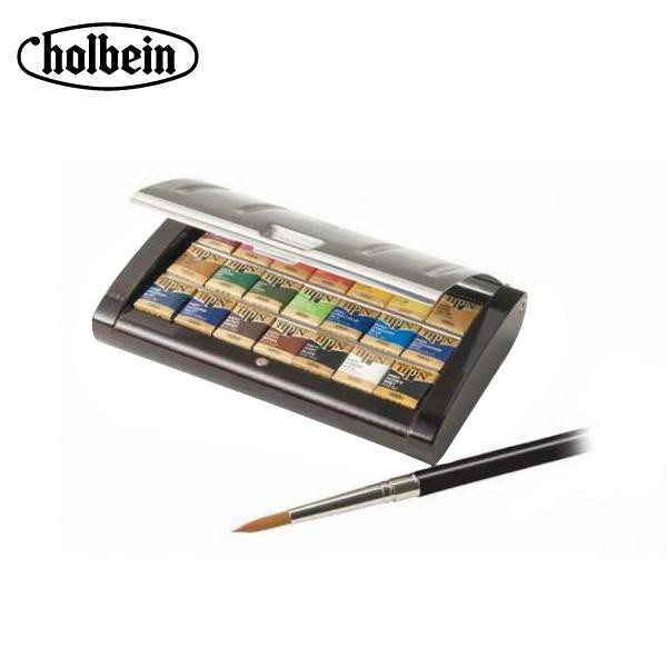 ホルベイン 固形水彩絵具 パンカラー PN695 21色セット(越前漆塗り製) 2695【送料無料】