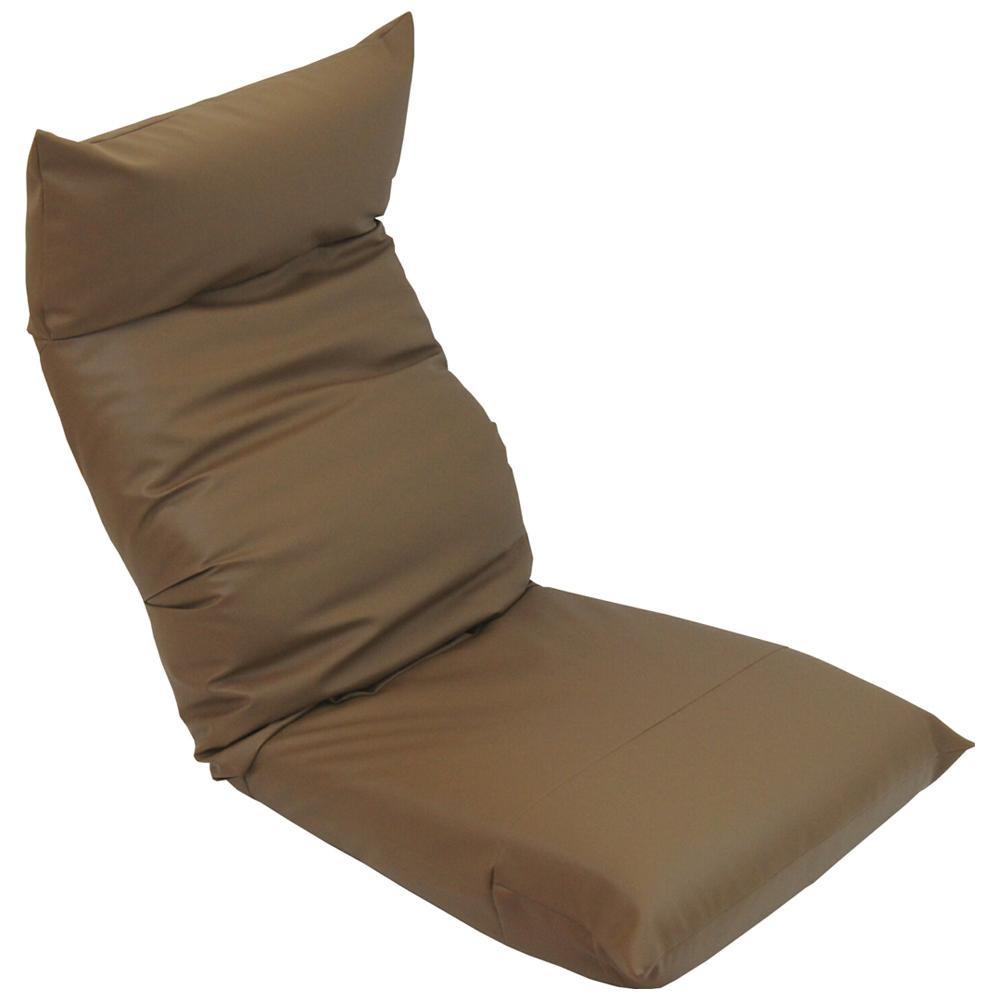 ヘッドリクライニング座椅子 スワロッサー レザー ブラウン【送料無料】