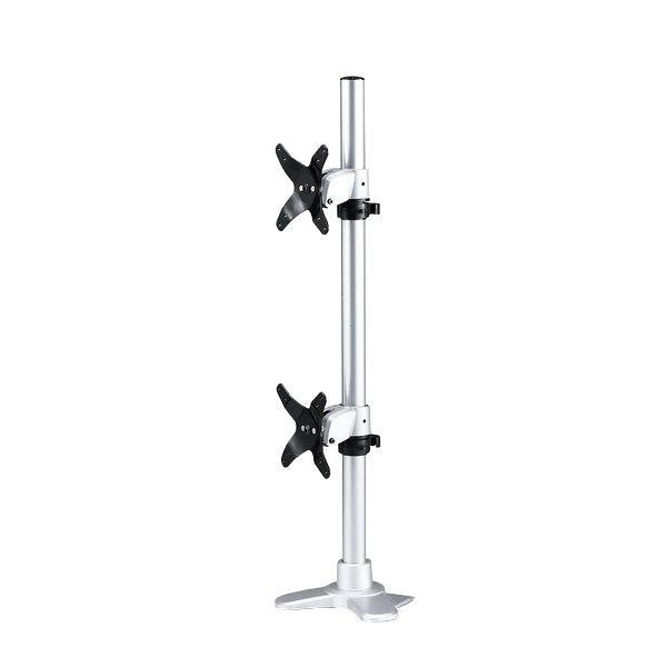 水平垂直空間に自由に可動できる。 複数 オフィス デスクサンワサプライ 水平垂直液晶モニターアーム(上下2面) CR-LA1009N【送料無料】
