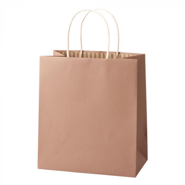 紙袋パックタケヤマ 手提袋 ST カラーズ フィグピンク 10枚×10包 XZT68303【送料無料】