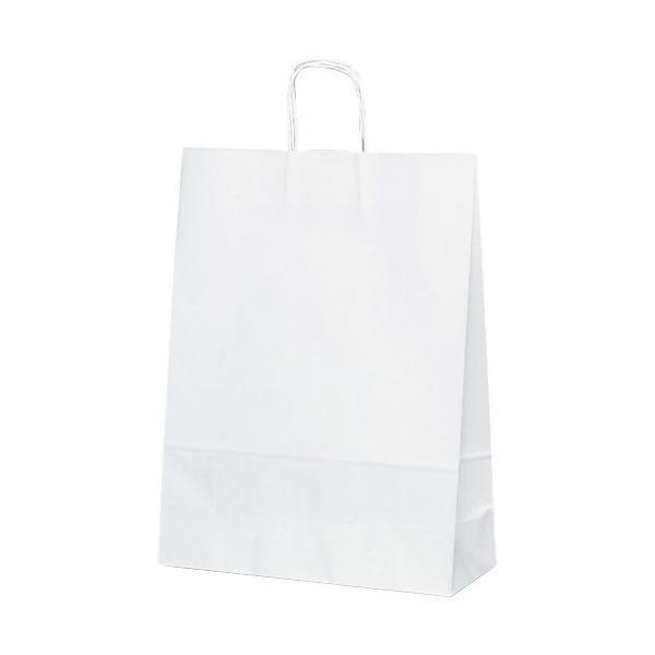 T-12 自動紐手提袋 紙袋 紙丸紐タイプ 380×145×500mm 200枚 白無地 1498【送料無料】