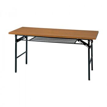 オフィス家具 ミーティングテーブル ハイタイプ 150×60×70cm チーク KM1560T-T【送料無料】