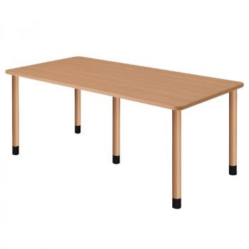 オフィス・施設向け家具 スタンダードテーブル 5脚タイプ 4本固定脚 ナチュラル UFT-5K1890-NA-L1【送料無料】