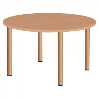オフィス・施設向け家具 スタンダードテーブル 丸型 ナチュラル UTF-4S12R-NA【送料無料】