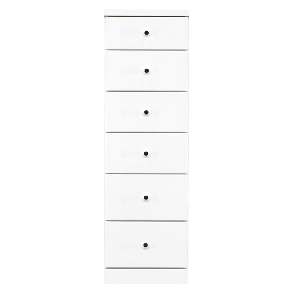 ソピア サイズが豊富なすきま収納チェスト ホワイト色 6段 幅37.5cm【送料無料】