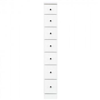 家具 収納家具 完成品ソピア サイズが豊富なすきま収納チェスト ホワイト色 7段 幅20cm【送料無料】