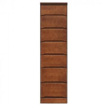 クライン サイズが豊富なすきま収納チェスト ブラウン色 7段 幅37.5cm【送料無料】