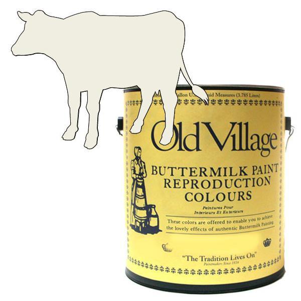 Old Village バターミルクペイント コーナー カップボード イエロー ホワイト 3785mL 605-13251 BM-1325G【送料無料】