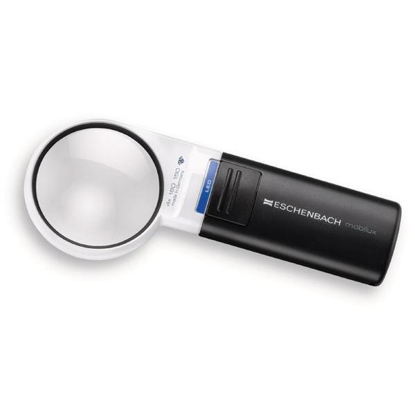 エッシェンバッハ mobiluxLED+mobase LEDワイドライトルーペ&専用スタンド 60mmΦ(4倍) 1511-41M【送料無料】