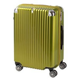 協和 TRAVELIST(トラベリスト) スーツケース ストリークII ジッパーハード Mサイズ TL-14 ライムヘアライン・76-20227【送料無料】