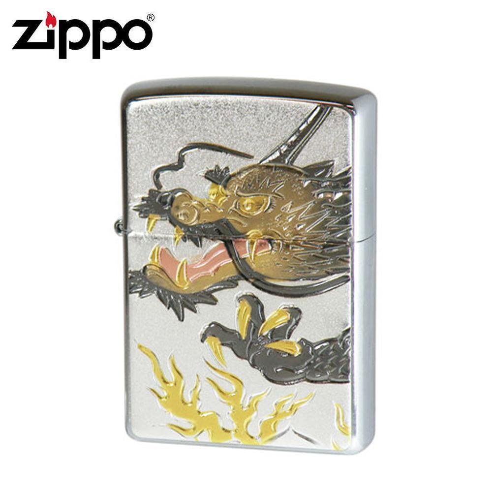 ZIPPO(ジッポー) オイルライター 電鋳板 ドラゴン2【送料無料】 メール便対応商品