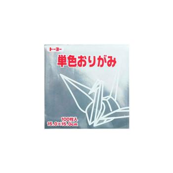 トーヨー 単色おりがみ 17.6-60 ぎん 12セット 065160【送料無料】