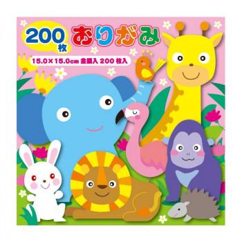 トーヨー 徳用折紙15cm200枚 N500 80セット 090203【送料無料】