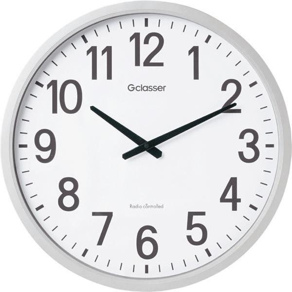 50センチ 大型 壁掛けキングジム 電波掛時計 ザラージ GDK-001【送料無料】