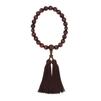 京・六条 彩や 日本製数珠 男性用 赤虎目石 ブラウン 952542322010【送料無料】