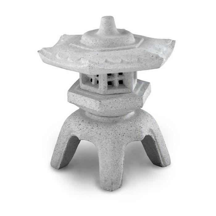 白御影石をリアルに再現した人造石製の和灯籠です。 白御影石 灯ろう 枯山水NXstyle 御影調 角雪見灯籠 1尺5寸 1316012【送料無料】
