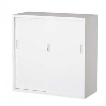 鍵付 卓上 扉オフィス向け 一般書庫・ホワイト 3×3型引違書庫 3号鉄戸 COM-303D-W【送料無料】