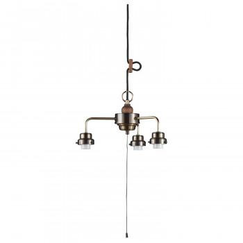 3灯用ビス止めCP型吊具・木製飾り付(真鍮ブロンズ鍍金) GLF-0281BR【送料無料】