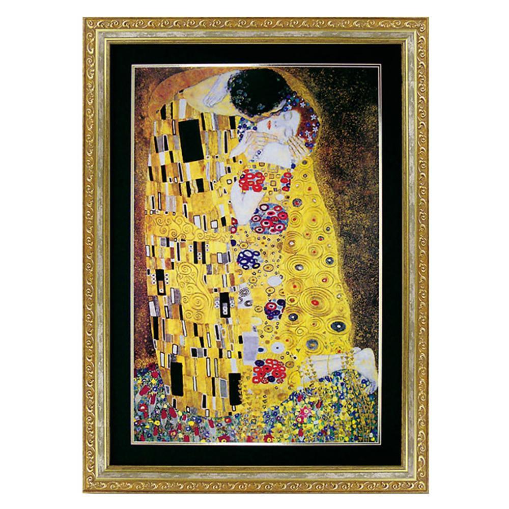 壁掛け 絵 アートユーパワー グスタフ クリムト「ザ・キス」 GK-26005【送料無料】