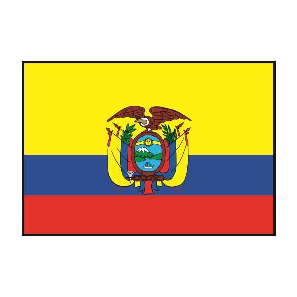 世界の国旗 卓上旗 エクアドル 15×22.5cm【送料無料】
