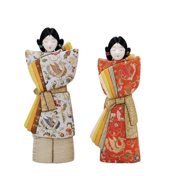 男女ペアの木目込み人形。 01-691 大和(大) セット【送料無料】