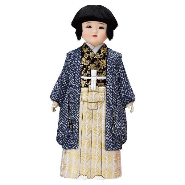 かわいらしい市松人形。 01-225 弥生市松(男)(正絹) セット【送料無料】