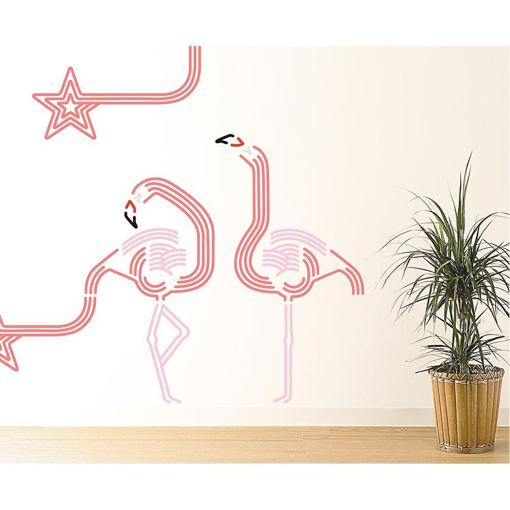 東京ステッカー ウォールステッカー 転写式 フラミンゴ ルック ピンク Mサイズ TS-0047-AM【送料無料】