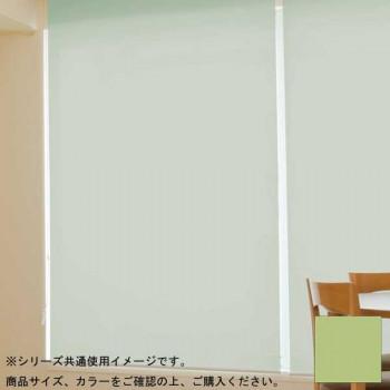 タチカワ ファーステージ ロールスクリーン オフホワイト 幅130×高さ200cm プルコード式 TR-176 抹茶色【送料無料】
